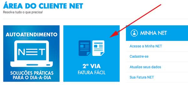 2ª Via FATURA E PLANOS TV INTERNET E TELEFONE FIXO NET COMO CONTRATAR