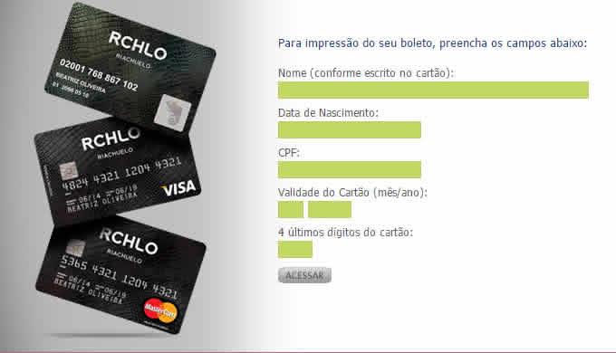 2ª Via FATURA BOLETO E CARTÃO RIACHUELO COMO SOLICITAR VIA APP E POR TELEFONE